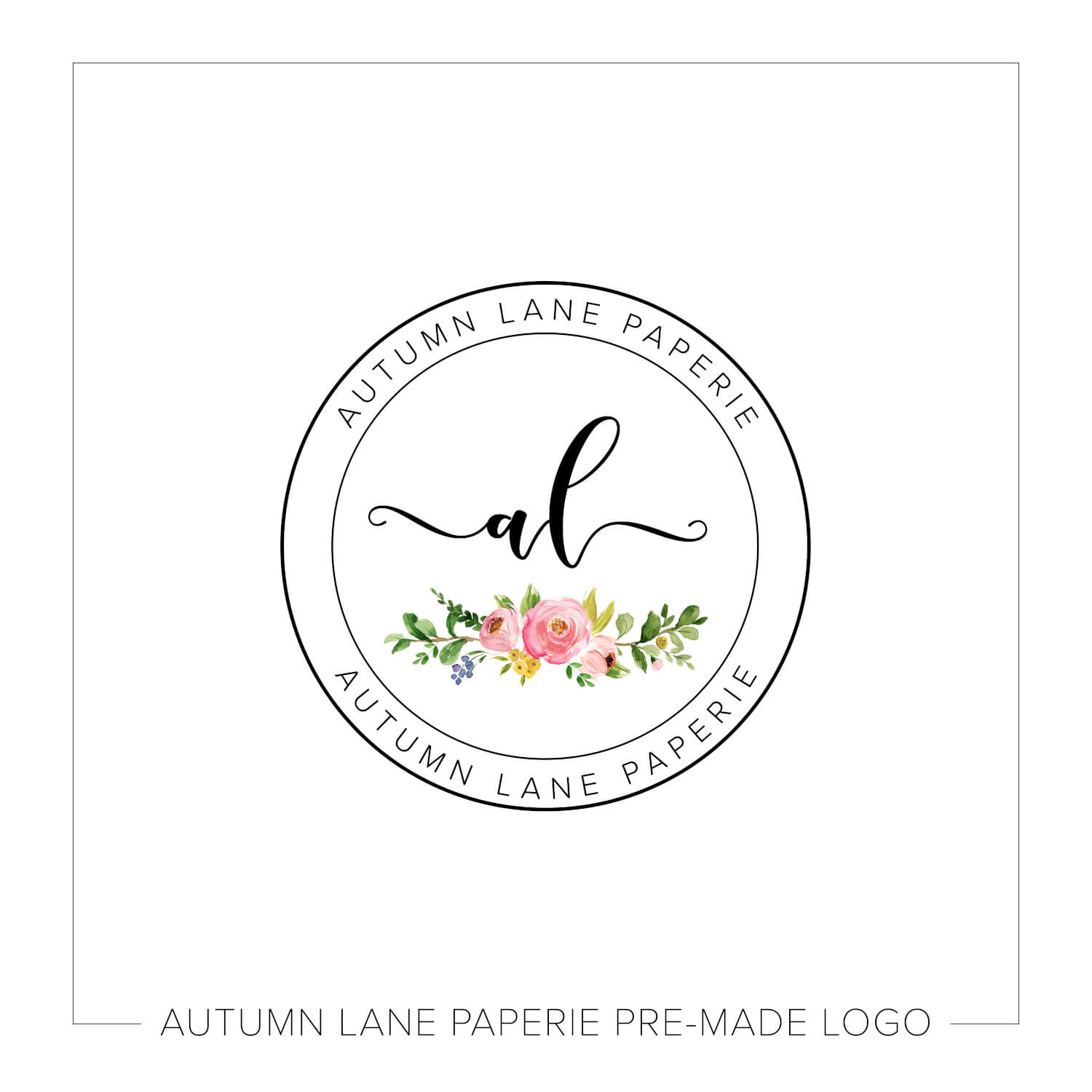 Double Circle Floral Logo I67