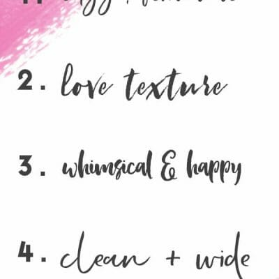 My Five Favorite Brush Fonts (for this five minutes)