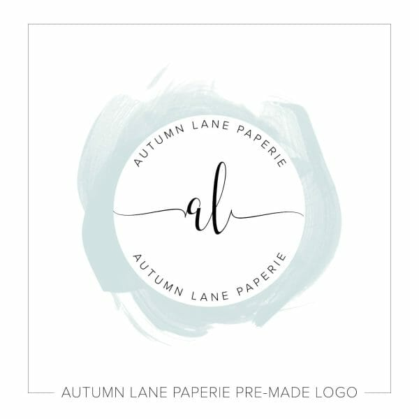 Watercolor Logo Designs by Autumn Lane Paperie - Pastel Watercolor Circle Initials Logo J64