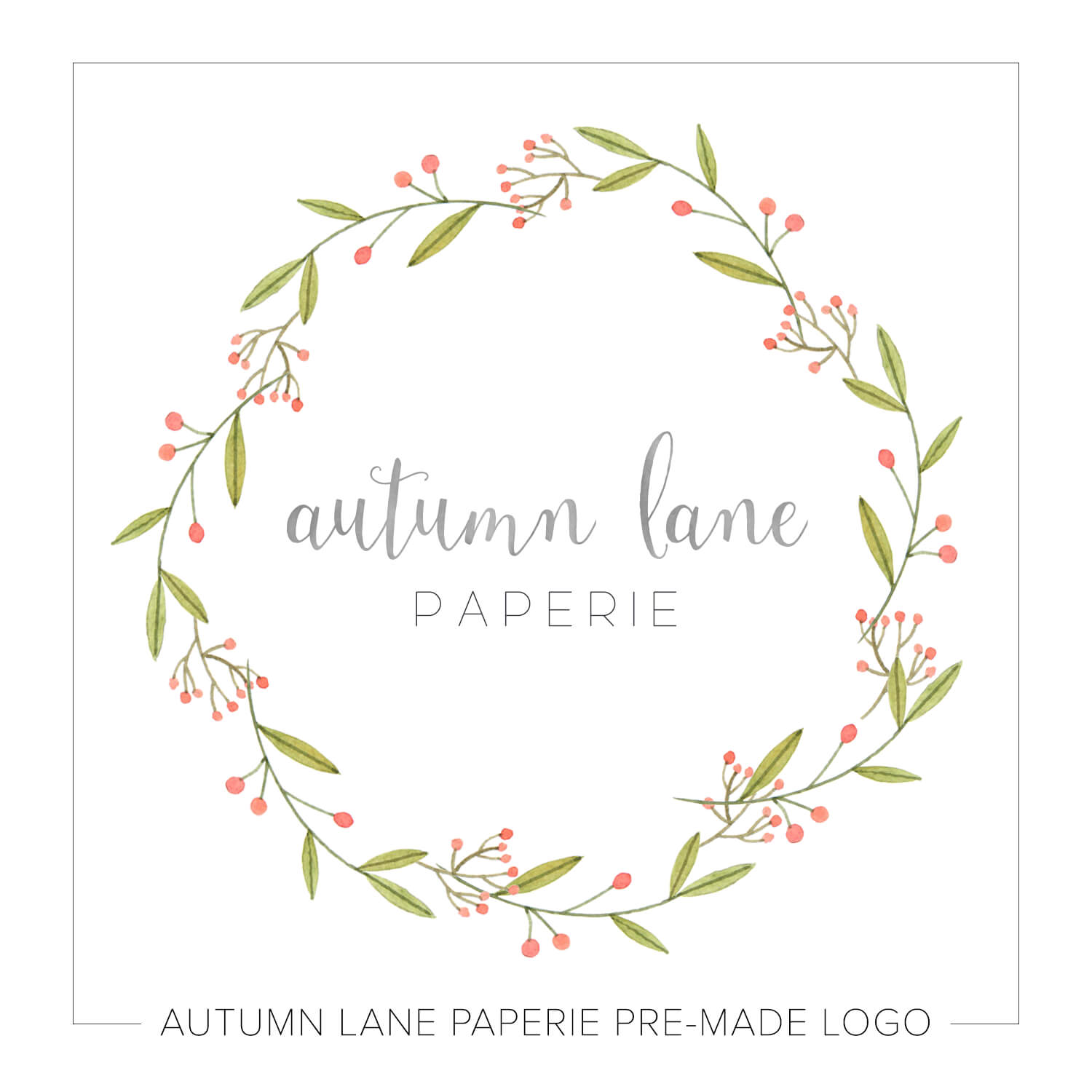 Muted Clean Floral Wreath Logo J94