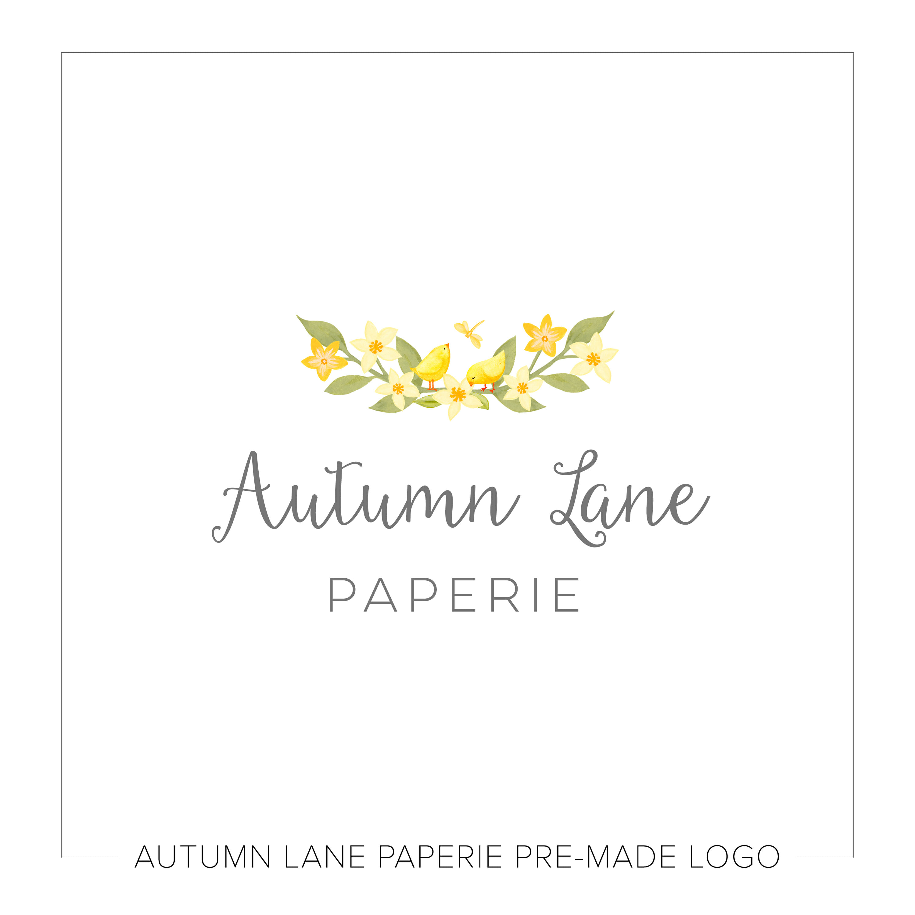 Bright Yellow Floral Bunch Logo K71