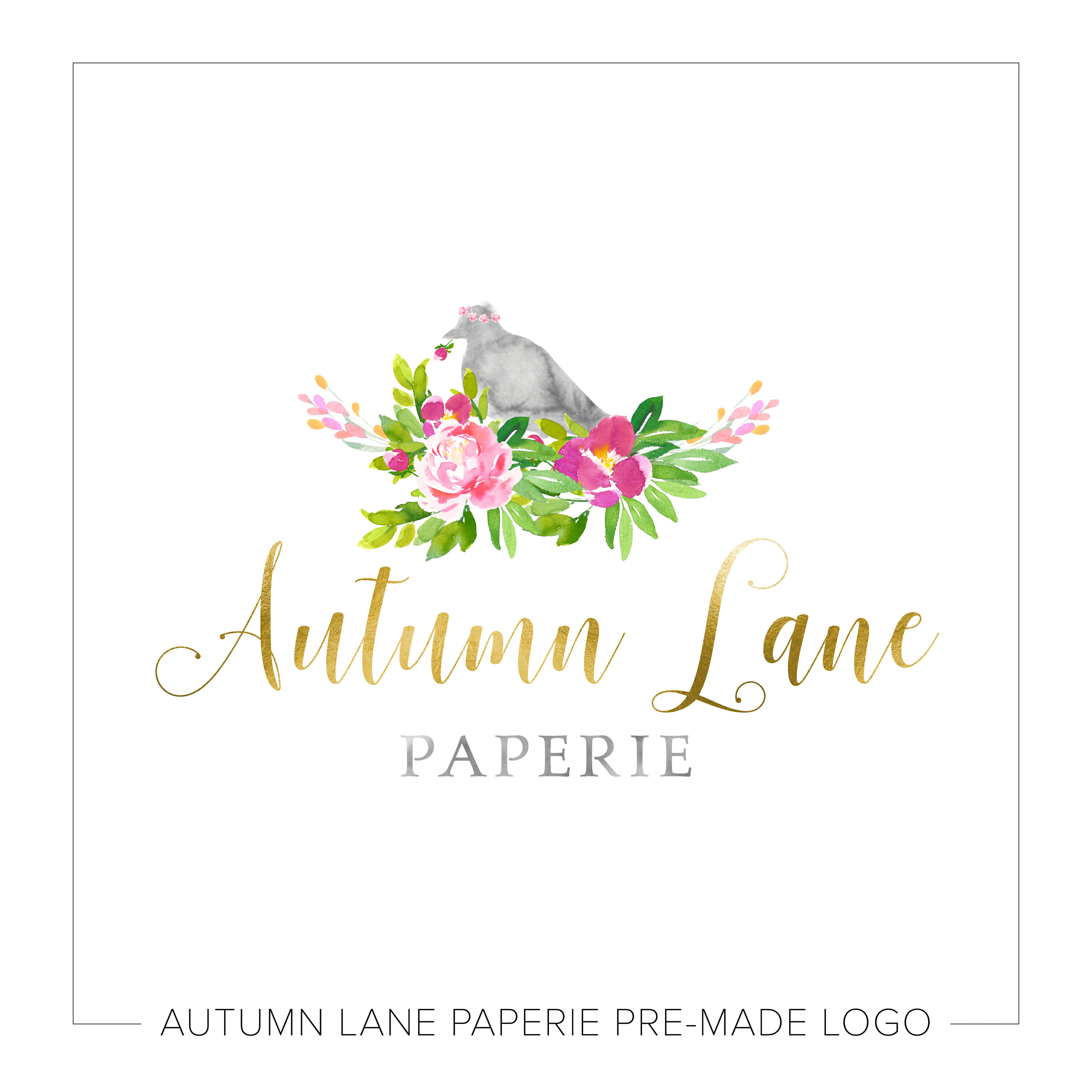 Dove Nested in Florals Logo K89