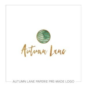 Autumn Lane Paperie Watercolor Logo Design