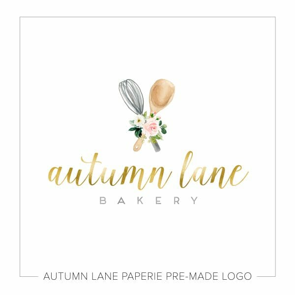 whisk and spoon logo | cute logo