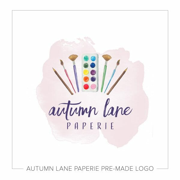 watercolor artist logo