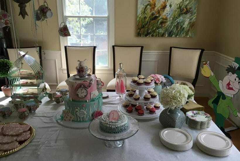 Craft Your Party in Norton MA birthday party Alice In Wonderland
