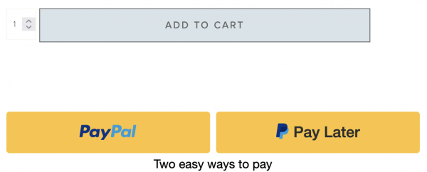 Pay Later with PayPal